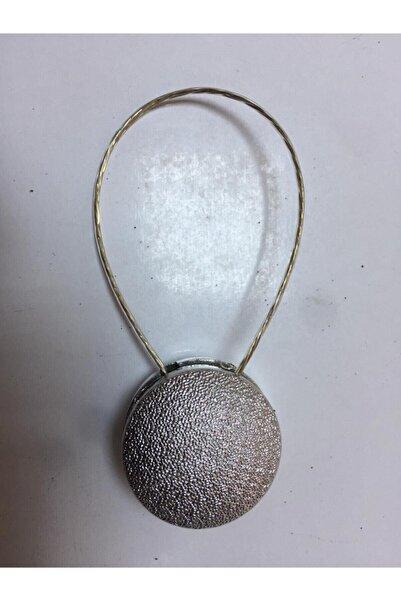 moda dadya Mıknatıslı Tül Perde Mandalı - Perde Tokası Gümüş