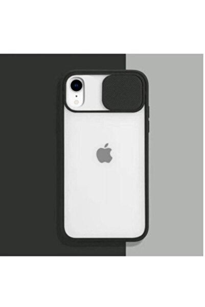 BilisimGo Iphone Xr Uyumlu Siyah Kamera Lens Korumalı Sürgülü Kılıf