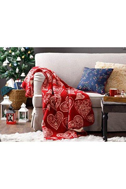English Home Lovers Akrilik Tv Battaniye 130x170 Cm Kırmızı