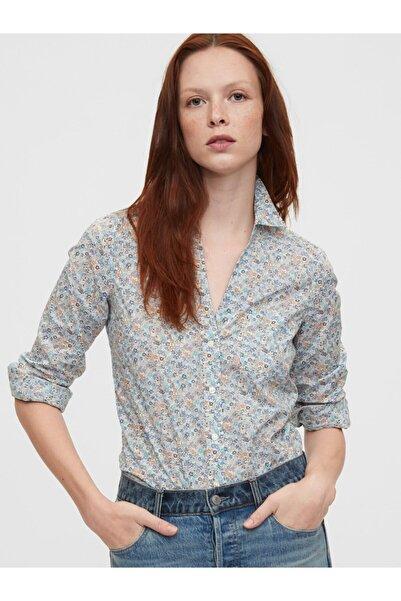 GAP Kadın Beyaz Saf Pamuklu Gömlek