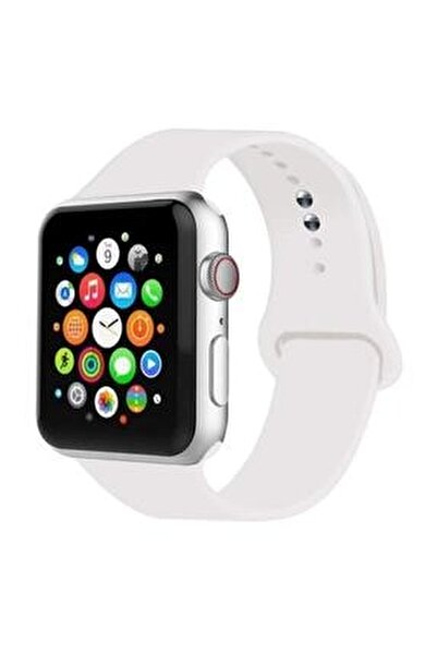 Apple Watch Kordon 1 2 3 4 5 6 7 Se Seri 38 Mm/40 Mm/41 Mm Silikon Kordon Kayış