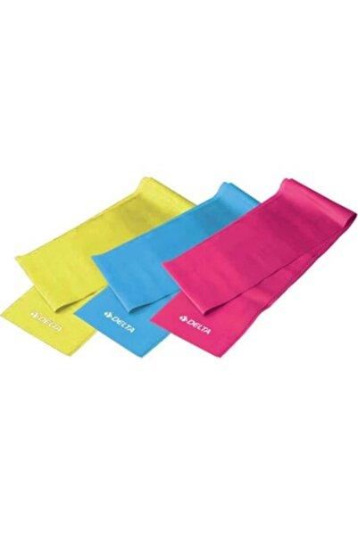 Delta Sarı 3'lü Pilates Bandı Seti