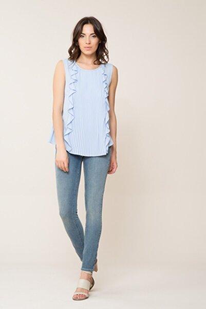 GIZIA CASUAL Kadın Piliseli Bebek Mavi Bluz M18YBW04513HS