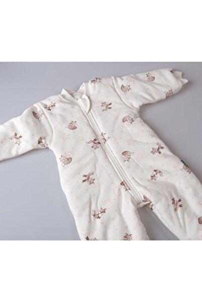 Tunngoo Kız Bebek Şeker Pembe Sevimli Tilki Desenli Uyku Tulumu