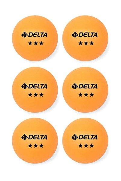 Delta 6 Adet Turuncu Masa Tenisi Topu ( Pinpon Topu )