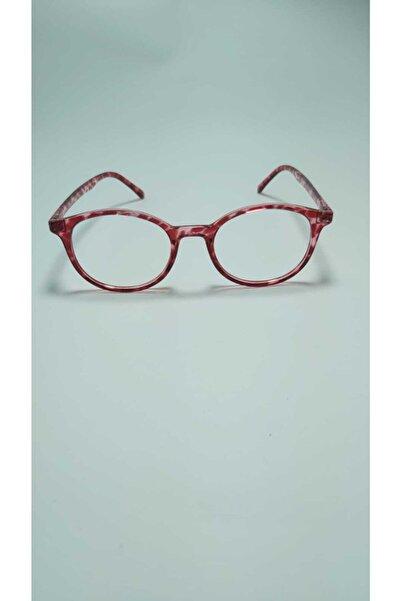 Pulsar Mavi Işık Engelleme Gözlük Bilgisayar Okuma Gözlükleri Uv400 Şeffaf Lens Kırmızı Desenli Çerçeve