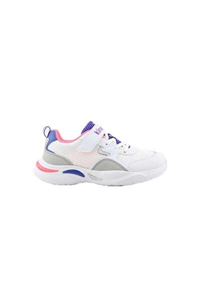 Kinetix Kız Çocuk Beyaz Bağıcıklı Sneaker