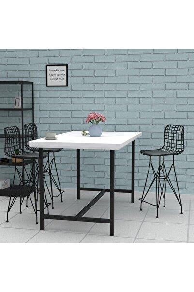 Kenzlife Knsz Orta Boy Tel Bar Sandalyesi 1 Li Mağrur Syhsyh 65 Cm Oturma Yüksekliği Mutfak Bahçe Cafe Ofis