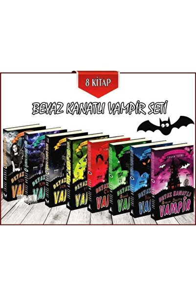 Pinus Kitap Beyaz Kanatlı Vampir - 8 Kitap Set - Erkan Işeri -
