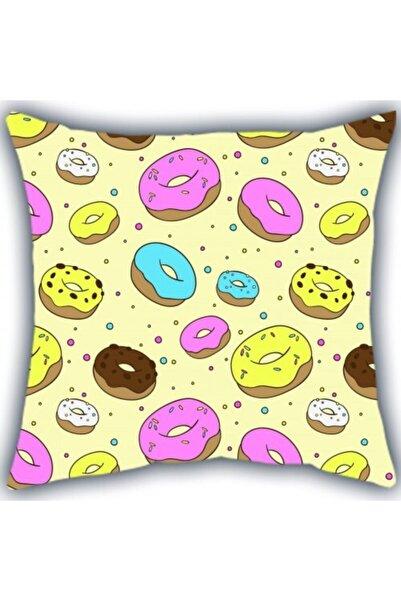 Panda Donuts Kare Yastık