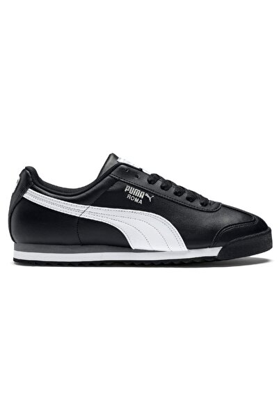 Puma Roma Basic Black-white- Silver