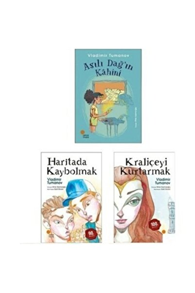 Günışığı Kitaplığı Kraliçeyi Kurtarmak - Haritada Kaybolmak - Asılı Dağ'ın Kahini - Vladimir Tumanov 3 Kitap Set