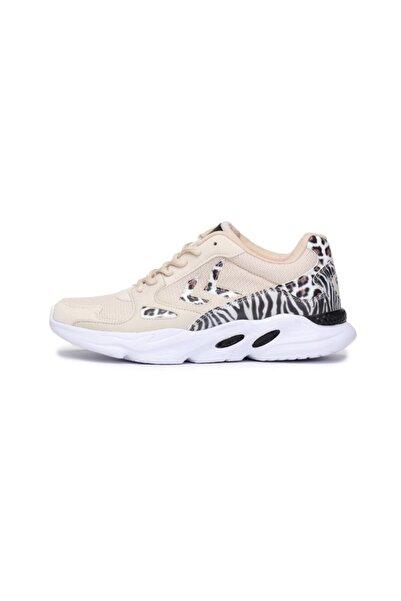 HUMMEL Kadın Beyaz Animal Print Sneaker