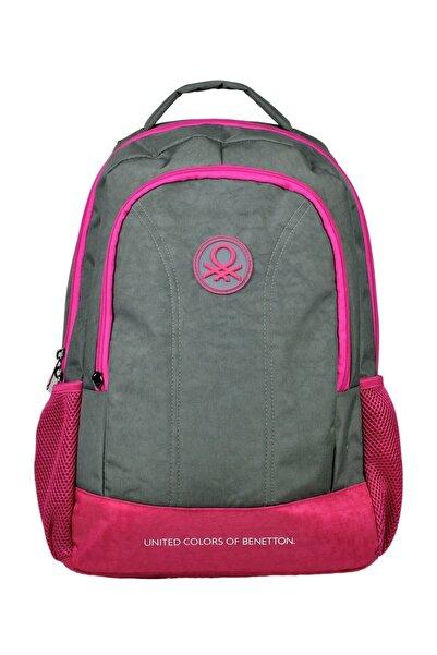 Benetton Okul Çantası Gri Pembe 96033