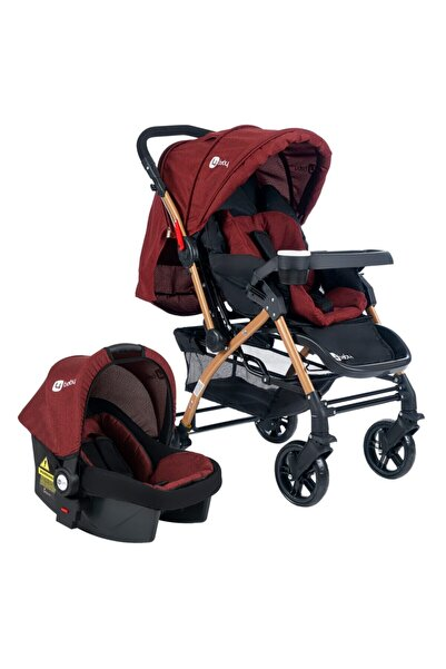 4 Baby Bordo Active Gold Travel Sistem Bebek Arabası
