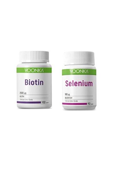 Voonka Biotin 2500 Mcg 102 Tablet + Selenyum 100 Mcg 92 Tablet