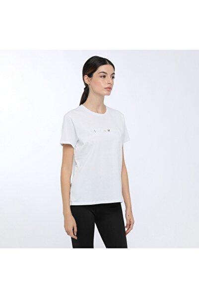 lumberjack Kadın Beyaz Hammett Kk T-shirt W-1896