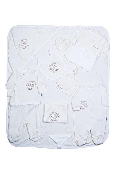 Pierre Cardin Baby Pierre Cardin Bebek Giyim 10'lu Hastane Çıkış Seti Organik Ekru