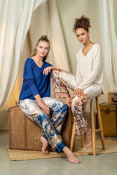 Cossy By Aqua Kadın Mavi Pijama Takım 21065