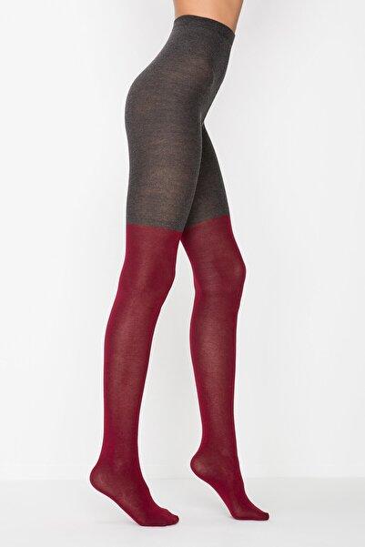 Penti Kadın Kırmızı Block Külotlu Çorap