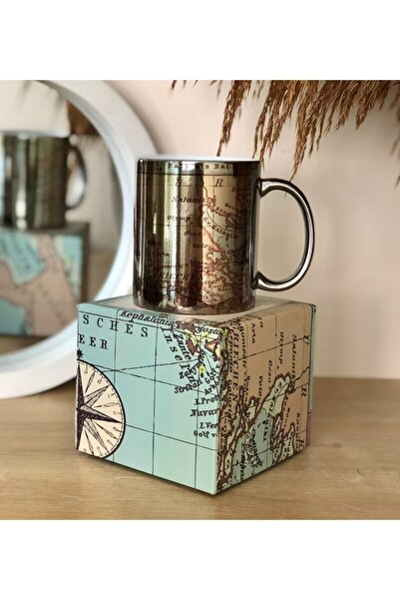Gift Moda Özel Kutulu Our Adventure Tasarımlı Gümüş Kupa