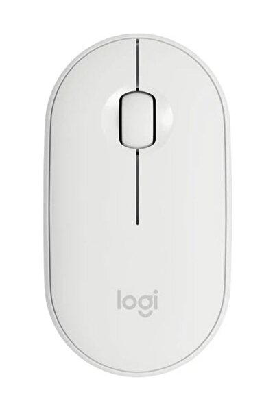 logitech M350 Pebble Kablosuz Mouse-Beyaz