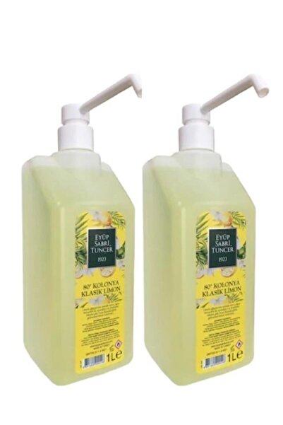 Eyüp Sabri Tuncer Sprey Başlıklı Klasik Limon Kolonyası 1 lt 2 Adet