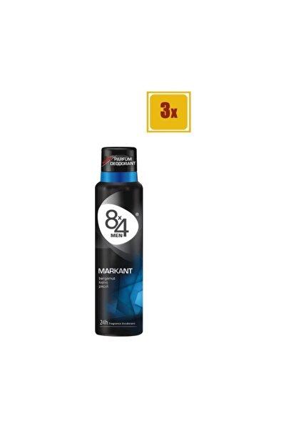 8x4 Men Markant Sprey Deodorant 150 Ml X 3 Adet