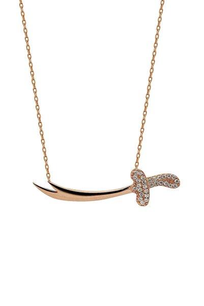 Hyde Park Kadın Rose Gold Gümüş Taşlı Kılıç Kolye 46k2kly0255002367