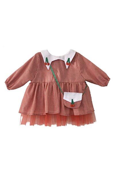Le Petite Sole Kız Bebek Kırmızı Kirazlı Pötikare Elbise