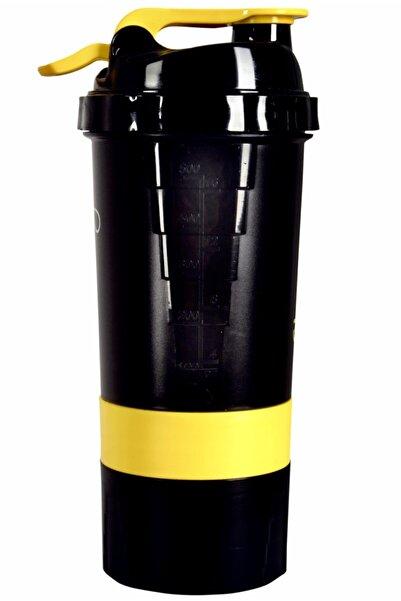 Vitargo Özel Tasarım 3 Bölmeli Siyah Shaker 500 ml