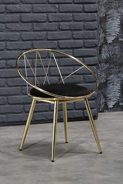 Ressa Home Eyfel Lüx Gold Yemek Masası Sandalyesi