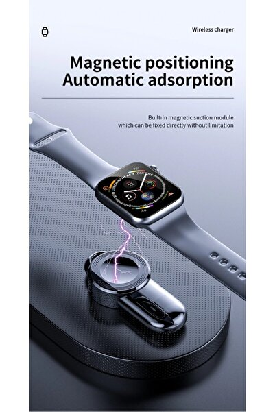 TOMMYWOLF Apple Watch Için 6 Se 5 4 Için Taşınabilir Kablosuz Şarj Cihazı Şarj Aleti Usb