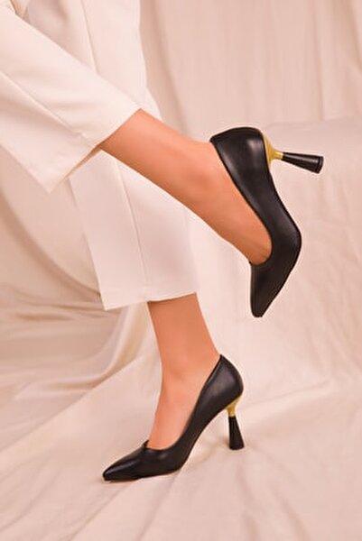 Siyah Kadın Klasik Topuklu Ayakkabı 15783