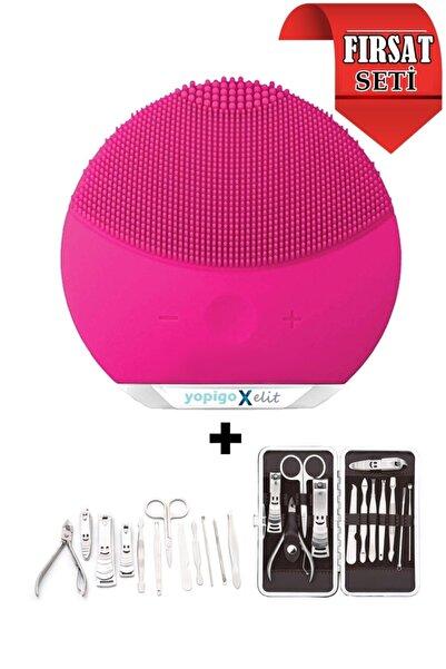 yopigo 12in1 Manikür Pedikür Tırnak Kadın Bakım Seti + Pro X Series Cilt Temizleme Yüz Masaj Aleti