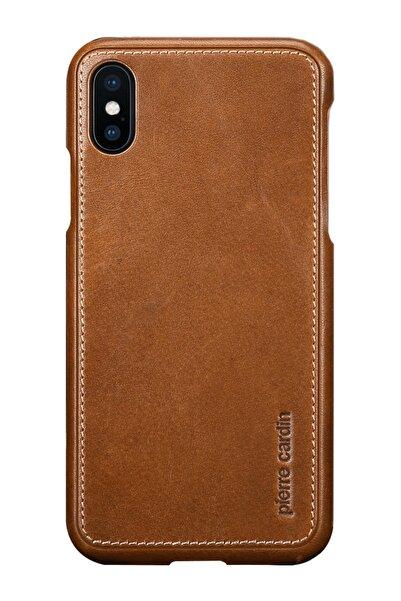 Pierre Cardin Iphone X - Xs Taba Klasik Deri Arka Kapak