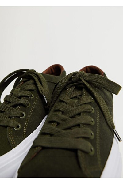 MANGO Man Erkek Haki Spor Tarz Süet Ayakkabı