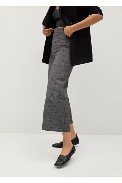 MANGO Woman Kadın Gri Takım Pantolon Etek