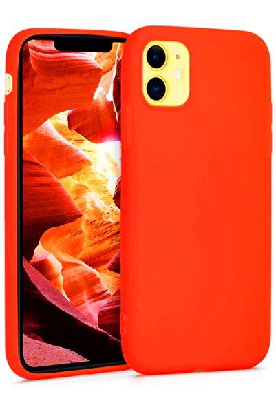 Molly Iphone 11 Neon Turuncu Liquid Pastel Kılıf