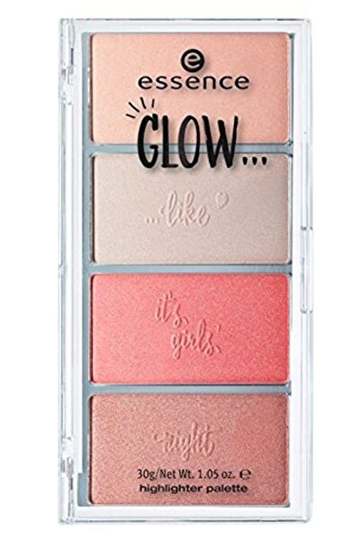 Essence Glow... Highlighter Palette 01 30g ( Aydınlatıcı Palet 4 Renk )