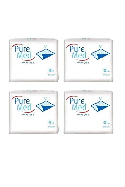 Puremed Hasta Altı Bezi Yatak Koruyucu Örtü 60x90 Cm 30 Lu 4 Paket 120 Kullanım