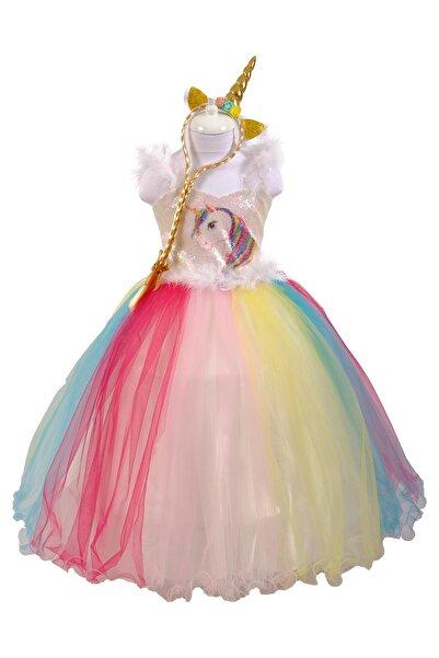 meneviş Unicorn Kız Çocuk Gelinlik