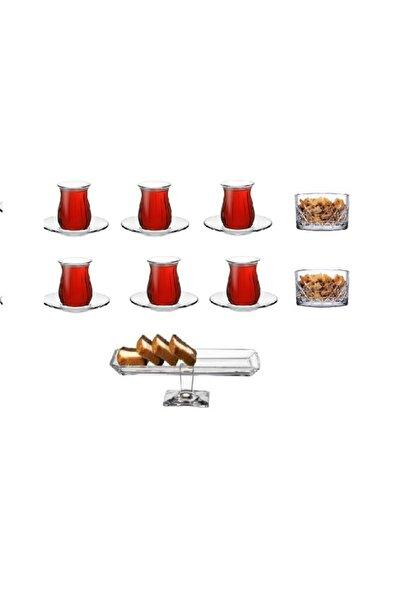 Paşabahçe 15 Parça Çerezlik Çay Seti