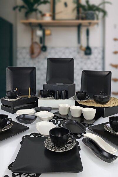 Keramika Kare 34 Parça 6 Kişilik Kahvaltı Takımı