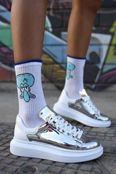 Chekich Kadın  Gümüş  Beyaz  Sneaker