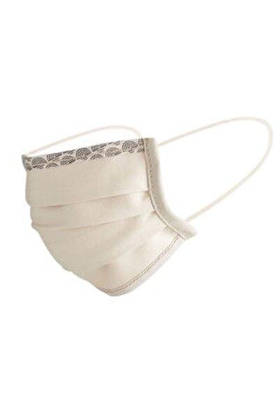 Bej Yıkanabilir Pamuklu Yüz Maskesi 5 Li Paket