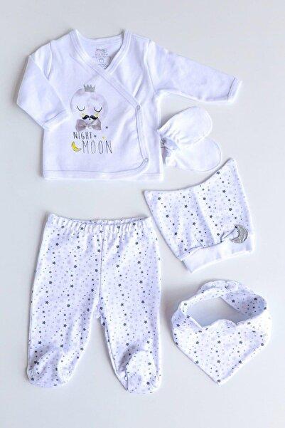 İmaj Erkek Bebek Beyaz Lıttle Moon 5'li Hastane Çıkışı