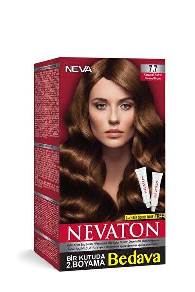 Neva Ton Kalıcı Krem Saç Boyası 7.7 Karamel Kahve