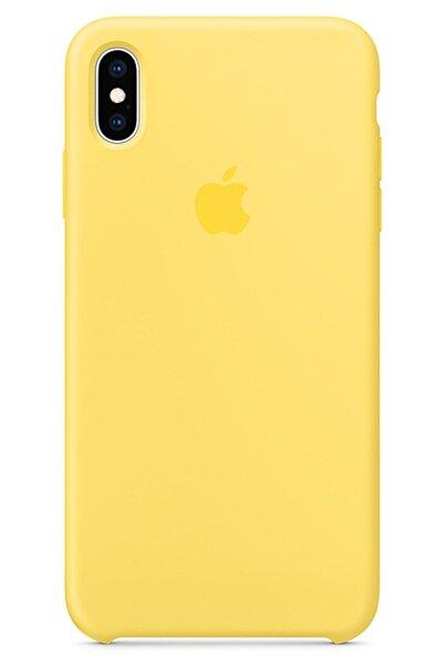 Burj Iphone Xs Max Silikon Kılıf Lansman Sarı