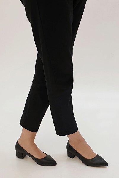 Marjin Apunte Kadın Klasik Topuklu Ayakkabısiyah